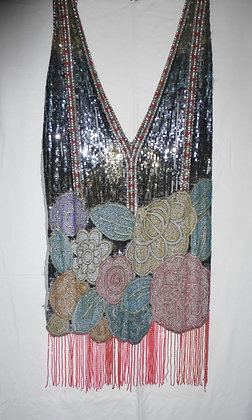 A stunning beaded 1920's dress front