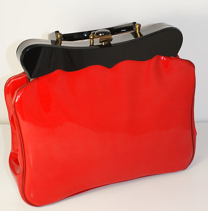 A Striking Red Patent Leather Bag