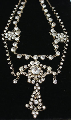 An Edwardian Paste Theatrical Necklace