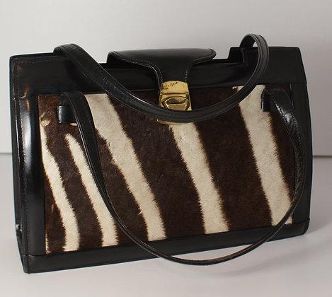 """A """"Zebra Skin"""" Bag, 1970's"""