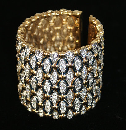 A Statement Cuff encrusted with white paste