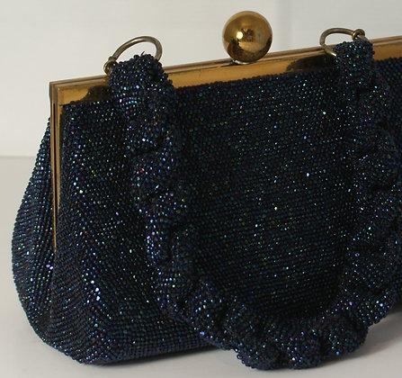 A Blue Beaded Evening Bag