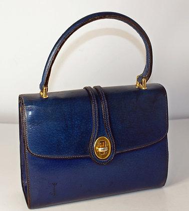 A 1970's Blue Gucci Handbag