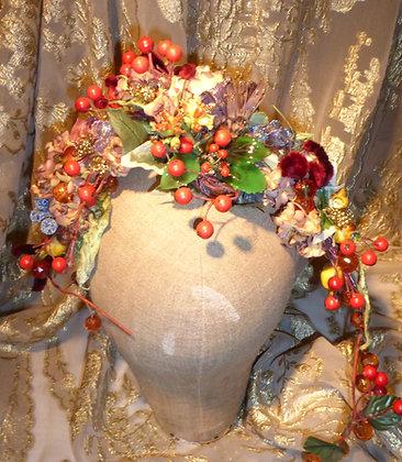 Bespoke berry headdress