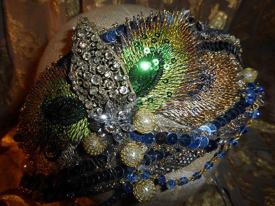 Handmade Peacock Feather Headdress
