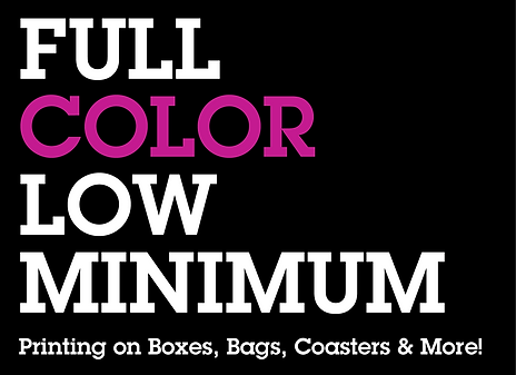 Full Color Low Minimum Printing on Boxes, Bags and More
