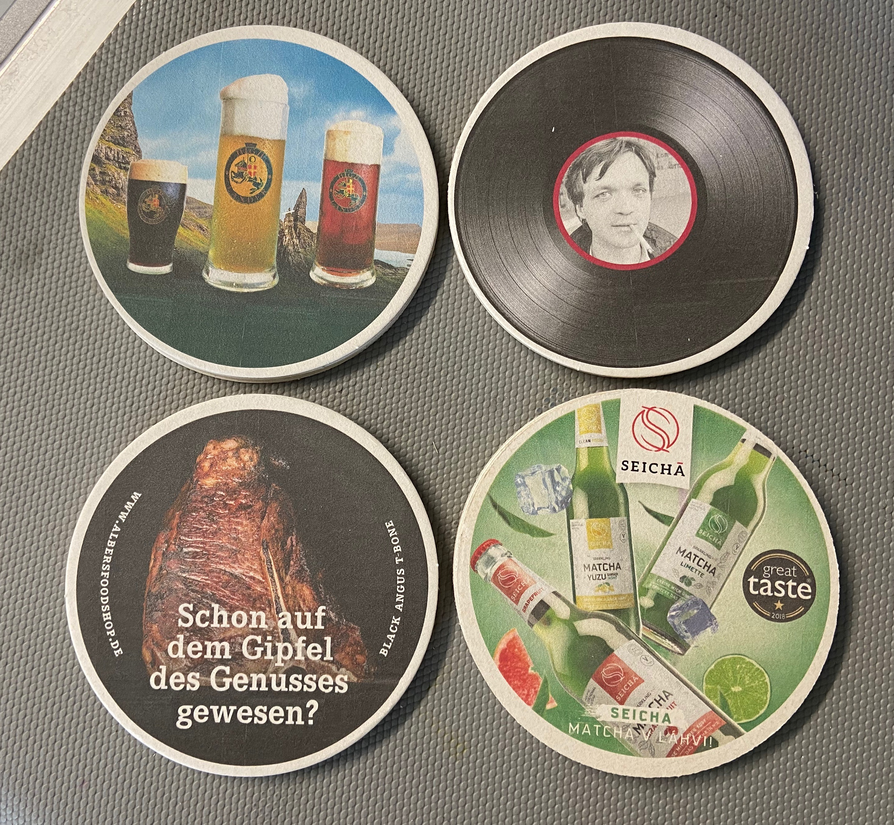 Full color custom printed drink coaster
