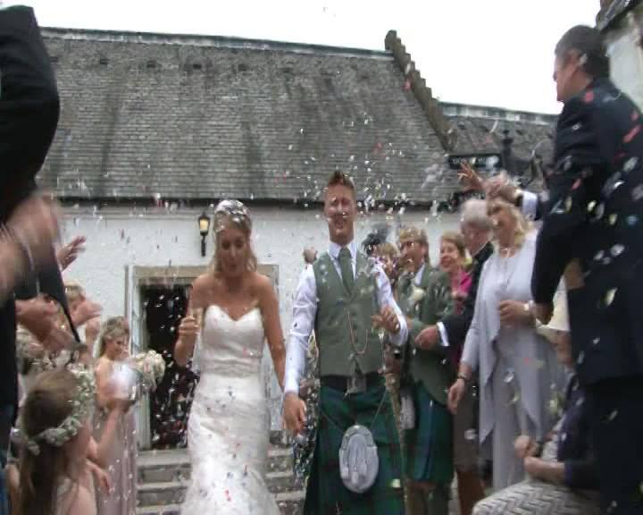 Ashley & Ewan'a wedding dvd at houstoun house