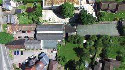 aerial photography church school