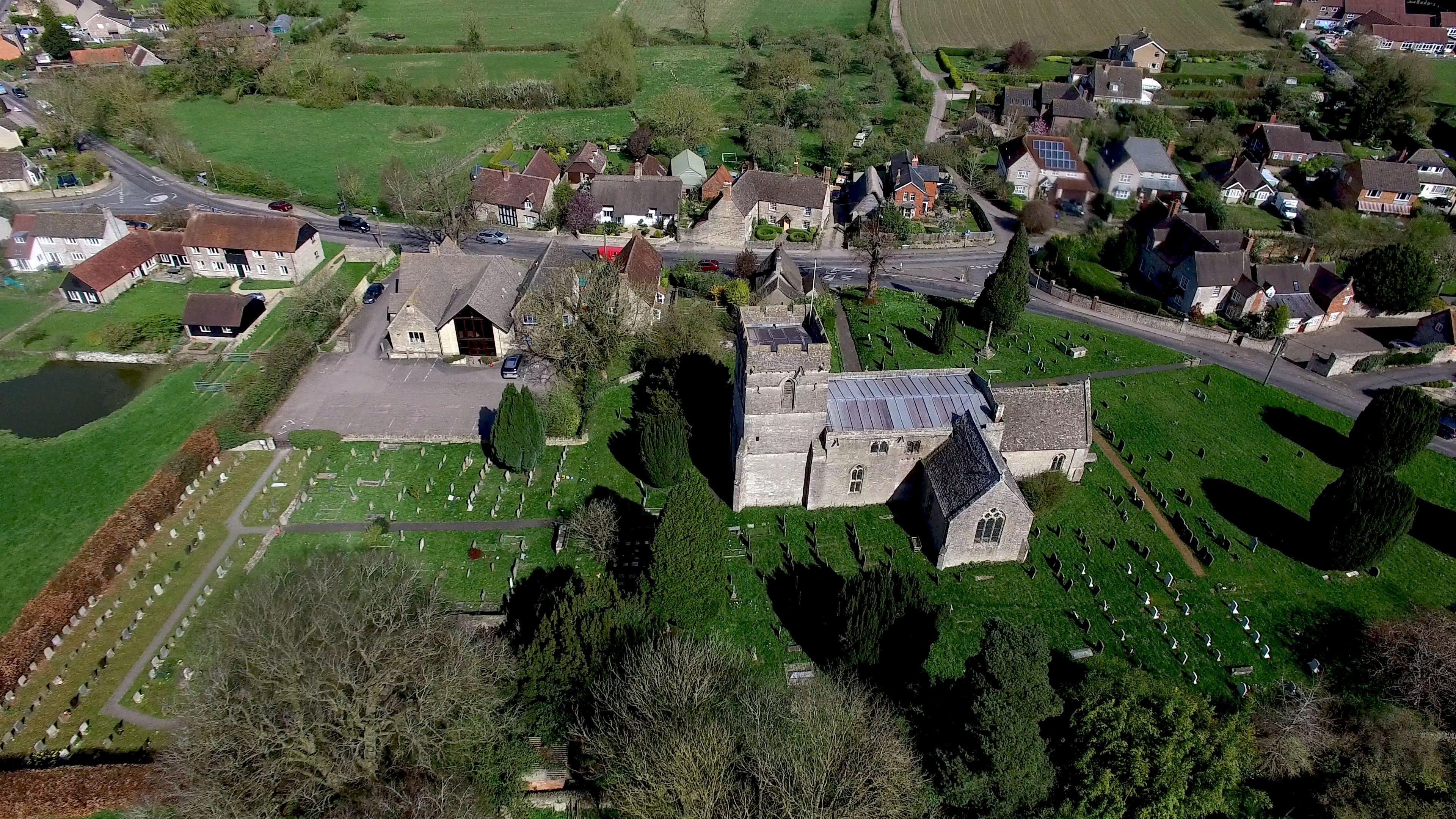 Aerial photograph church