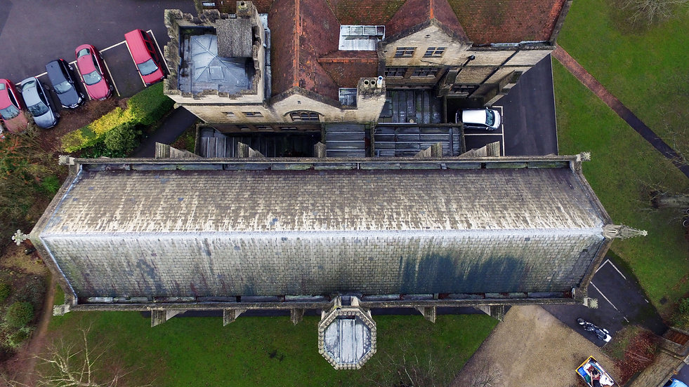 Aerial Church Roof Survey / Inspection Oxfordshire