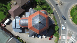 aerial photography church