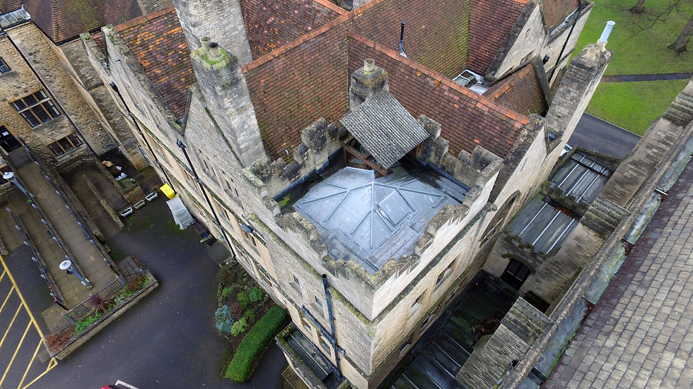 Drone-based Aerial Church Roof Survey / Inspection Oxfordshire