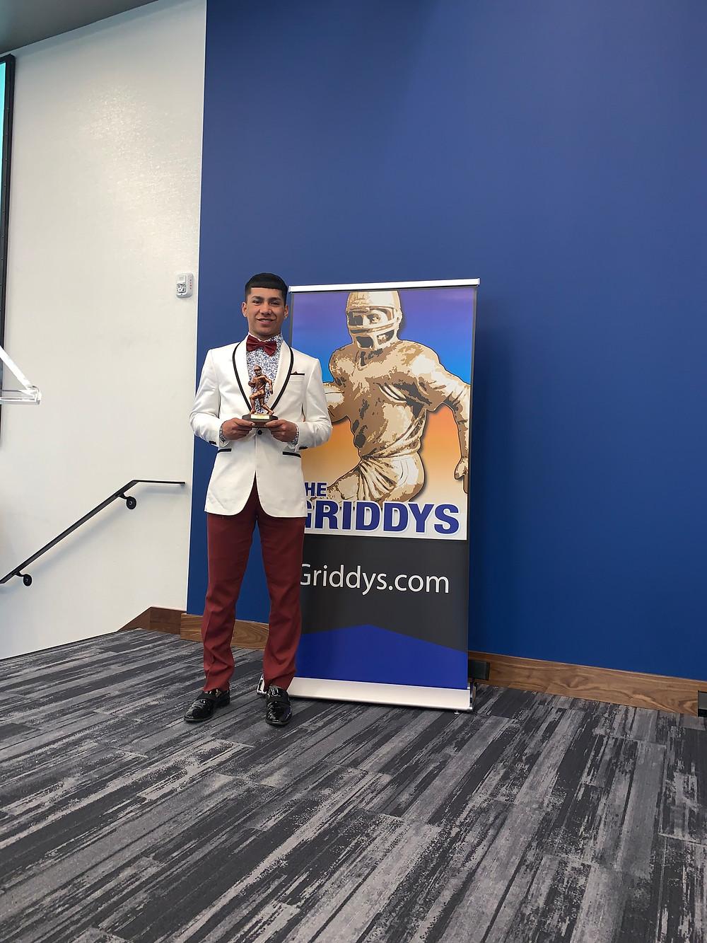 Nino at the 2019 Griddy Awards