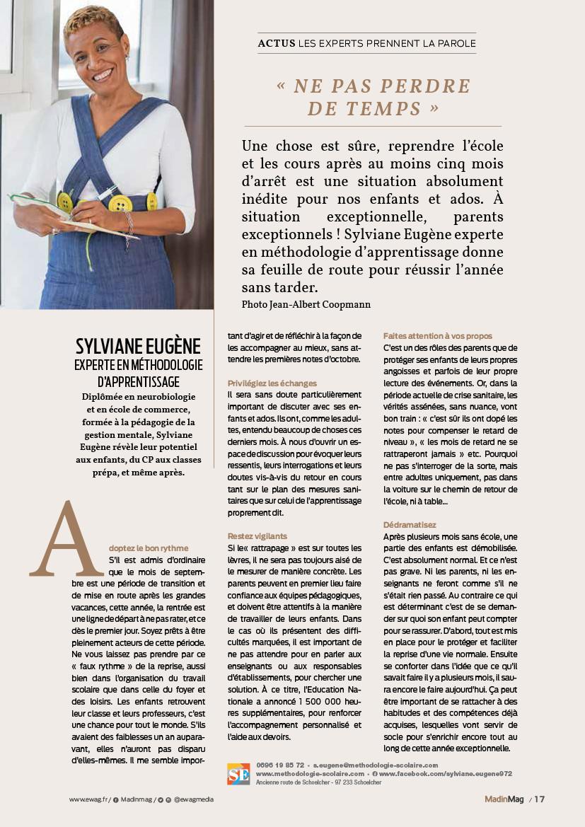 Sylviane Eugene   méthodologie scolaire   soutien scolaire   Apprendre à apprendre   Coaching scolaire   motivation scolaire   Martinique