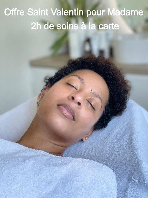 Offre Saint Valentin pour Madame - 2h de soins à la carte