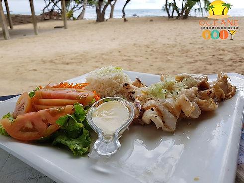 Lambi grillé - Restaurant Océane - Saint-Luce - Martinique