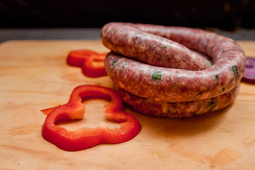 SAUCISSES DE TOULOUSE CREOLE - 16,90€ / kg - Lot de 4 saucisses