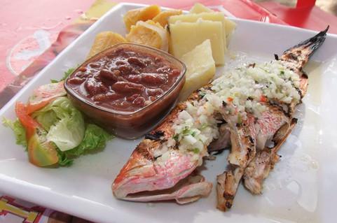 Poisson grillé Restaurant Océane - Sainte-Luce - Martinique