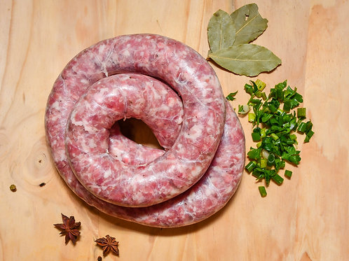 SAUCISSE DE TOULOUSE NATURE - 16,90€ / KG - Lot de 4 saucisses