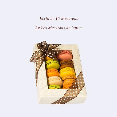 Ecrin de 10 Macarons