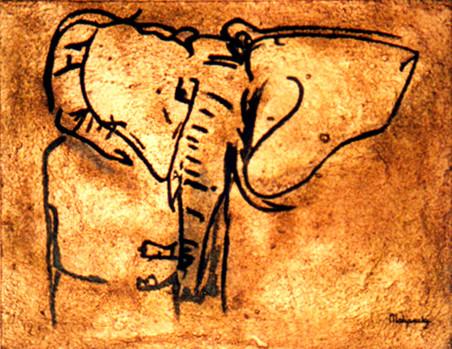 Peinture Série Terre - Maharaki
