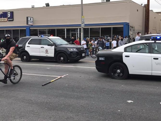 Police Tires Slashed