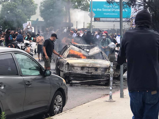 Anarchy in LA over the murder by police of George Floyd.