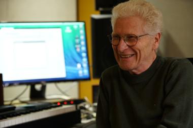 Recording at JR's studio