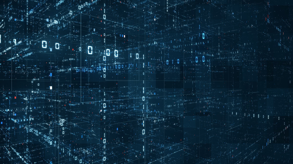 Digital binary code matrix background -