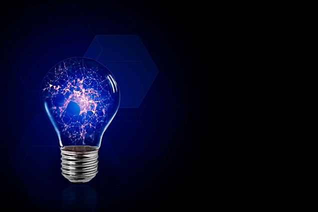 Lightbulb symbol of smart creative techn