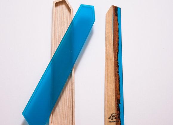 "Marque-pages""VOLIS"" bleu brillant avec coffret."