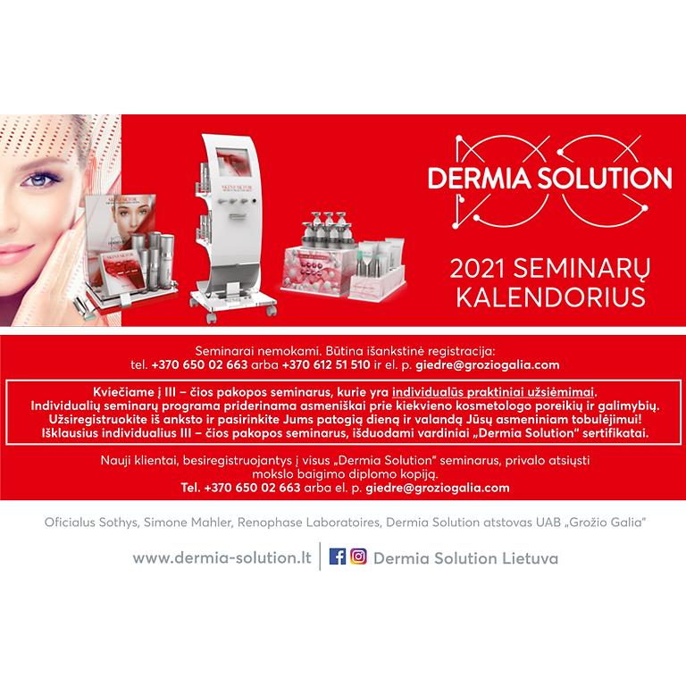 DERMIA SOLUTION seminarai 2021