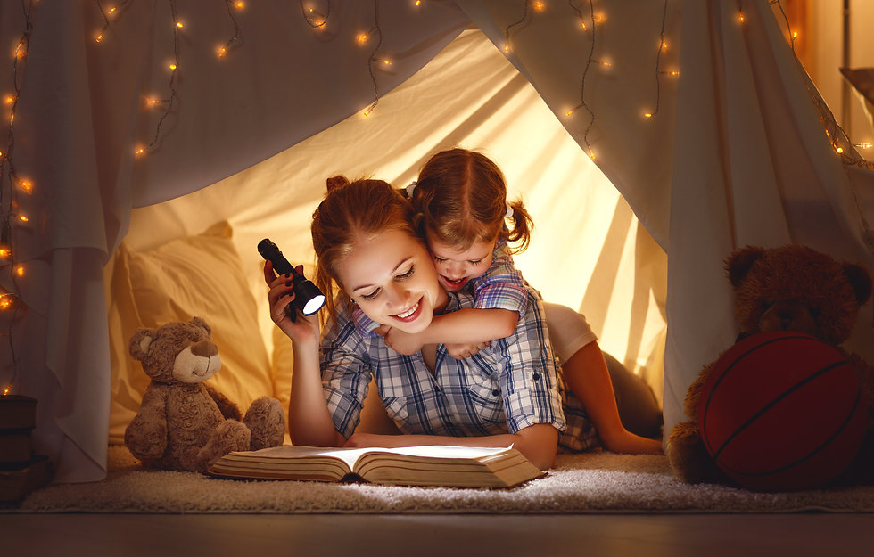 reading and family games in children's t