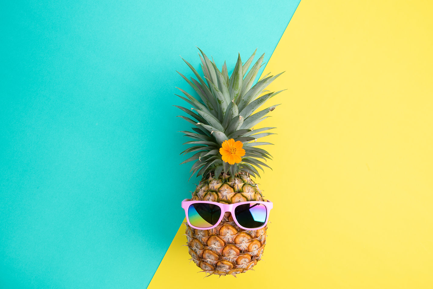 Beach accessories pineapple with pink su