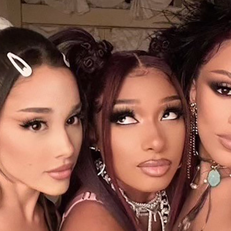 """Megan Thee Stallion and Doja Cat team up with Ariana Grande for """"34+35 (Remix)"""" video"""