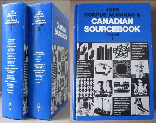 CLARKE (C. E.) [EDI.] - 1985 CORPUS ALMANAC & CANADIAN SOURCEBOOK