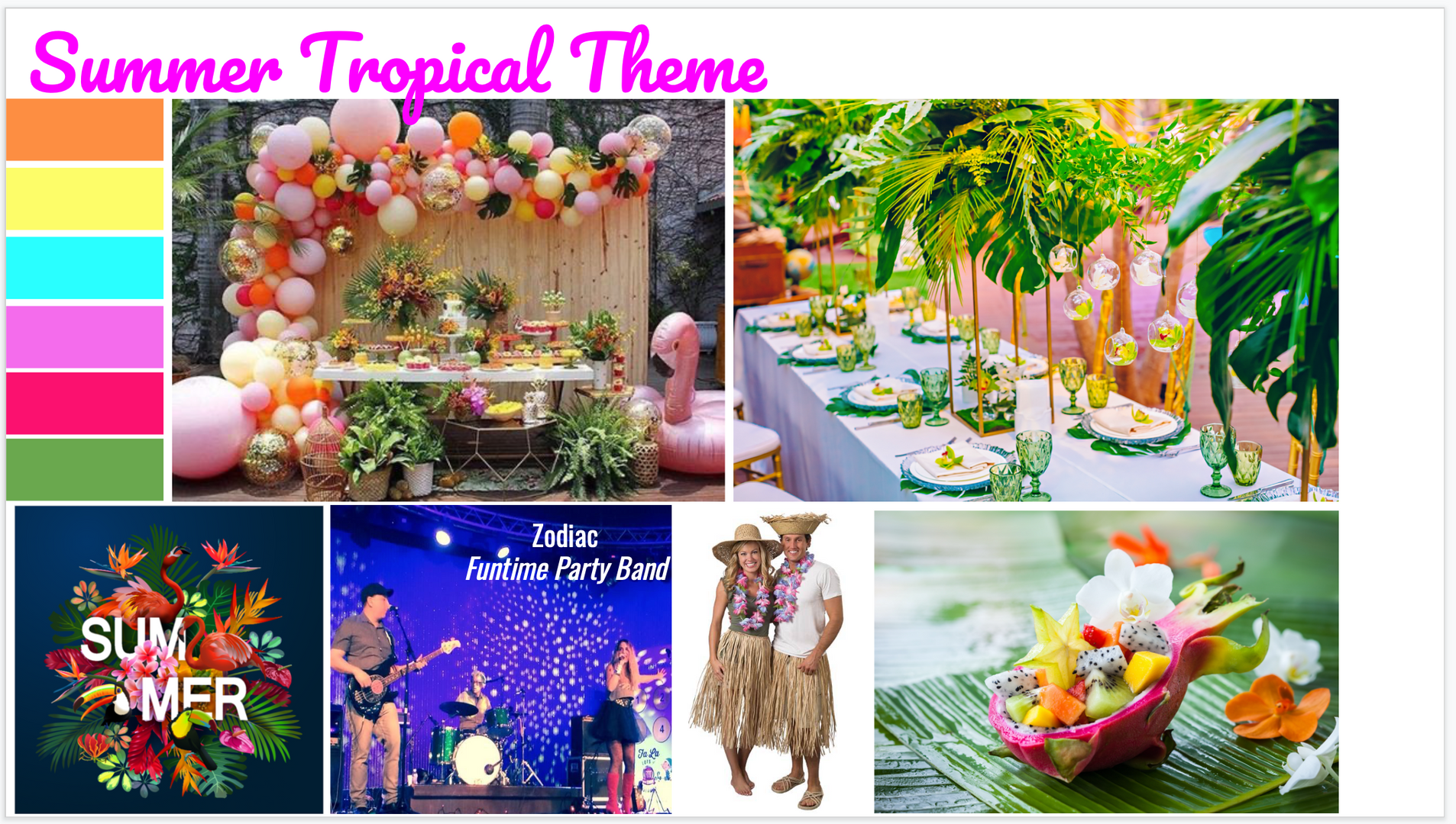 Summer Tropical Theme