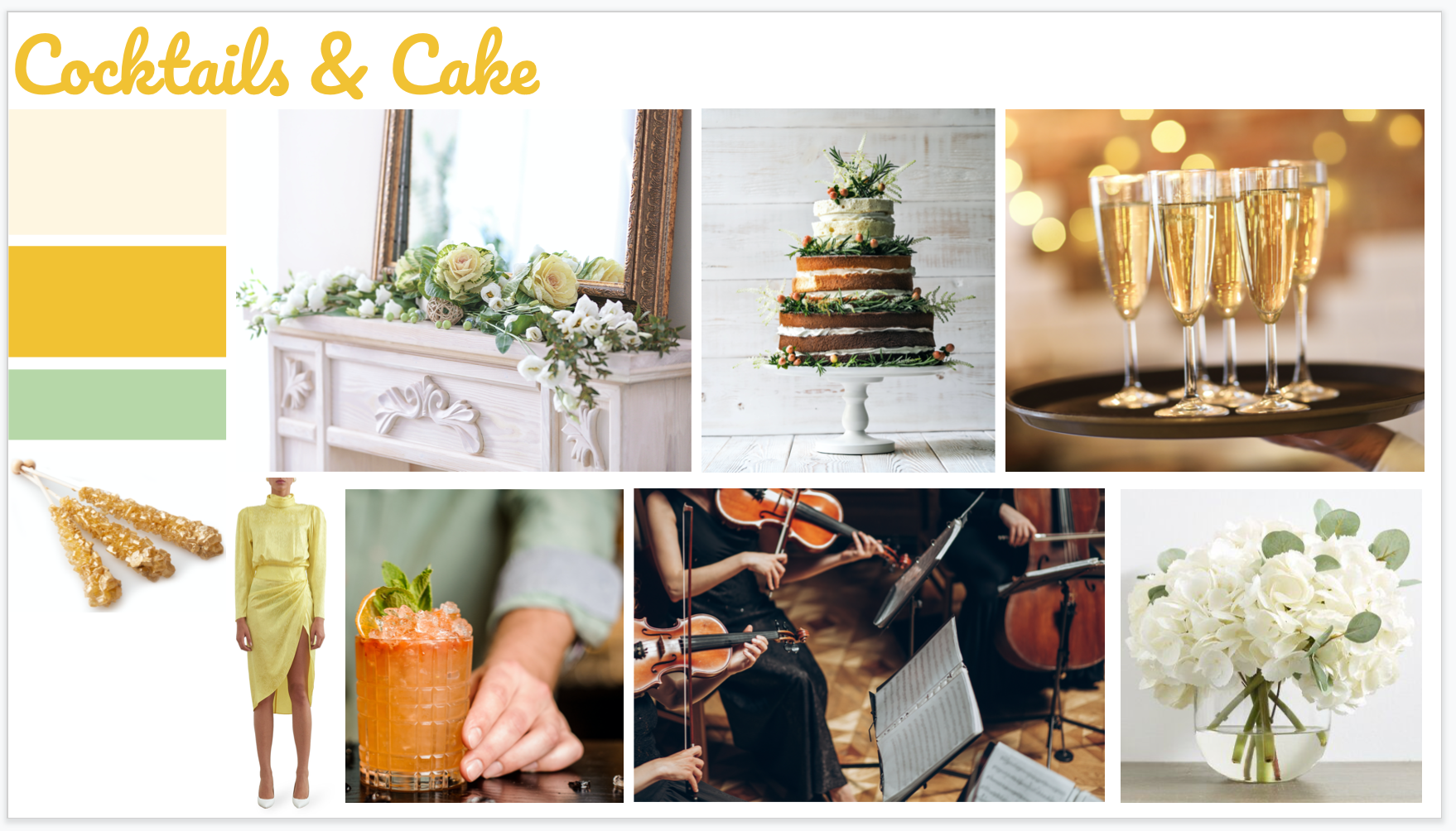Cocktails & Cake Theme