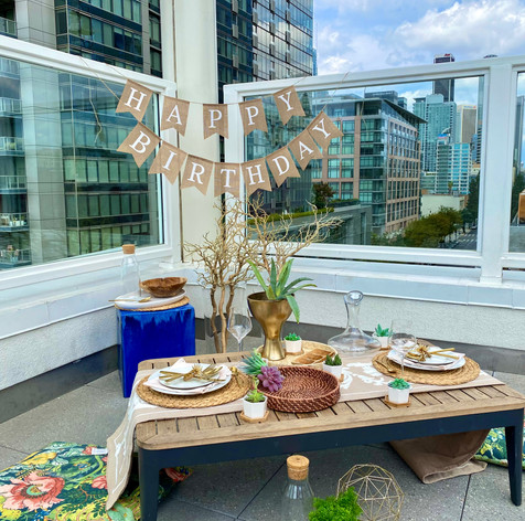 Rooftop Birthday for Two