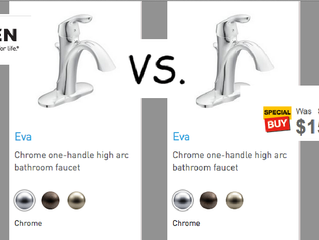 Faucets from Big Box Retailers