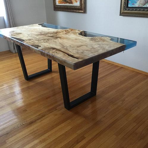 "Mappa Burl River Table aka ""Ocean Oasis"""
