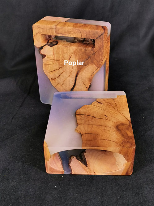 Wood and Epoxy Passive speakers