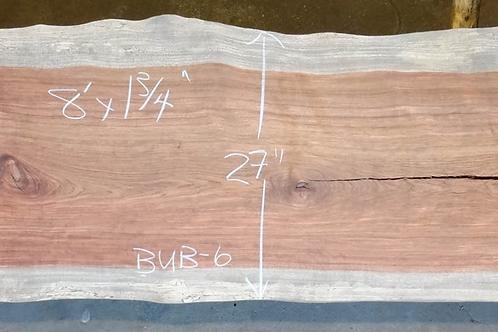 Bubinga  slab Custom Color Epoxy Table