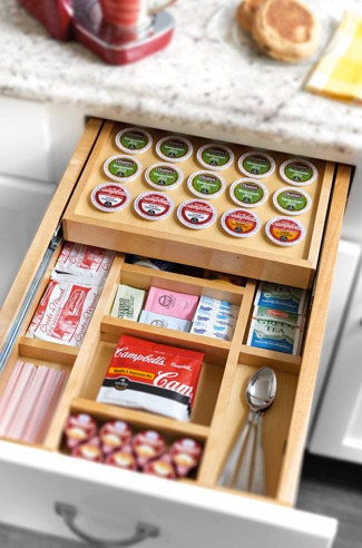 Drawer K-cup organizer