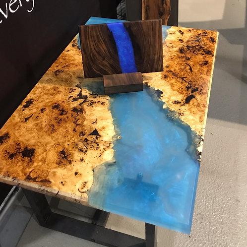 Cotton Wood burl coffee table