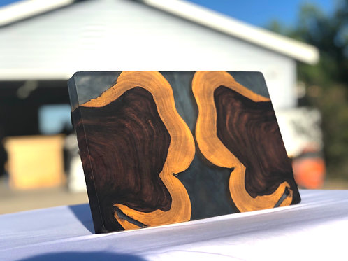 Monkey Pod Serving Board with Smoke Epoxy