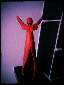 Mystery Lady in red
