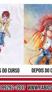 Antes e Depois da Aluna Carol 2019
