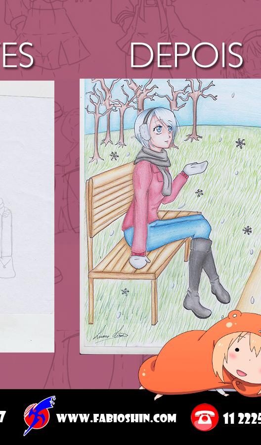 Antes e Depois da Aluna Luana